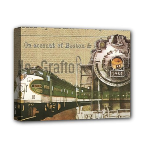 Train Vintage Tracks Travel Old Deluxe Canvas 14  X 11