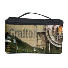 Train Vintage Tracks Travel Old Cosmetic Storage Case