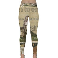 Train Vintage Tracks Travel Old Classic Yoga Leggings by Nexatart