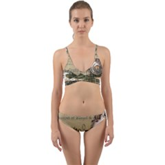 Train Vintage Tracks Travel Old Wrap Around Bikini Set