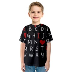 Love Alphabet Kids  Sport Mesh Tee