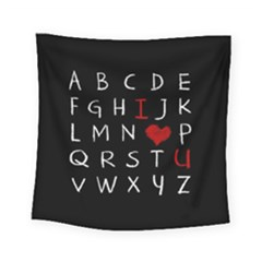 Love Alphabet Square Tapestry (small)
