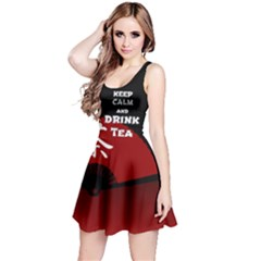 Keep Calm And Drink Tea   Dark Asia Edition Reversible Sleeveless Dress