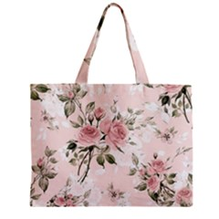 Pink Shabby Chic Floral Zipper Mini Tote Bag by 8fugoso