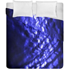 Blue Ripple Duvet Cover Double Side (california King Size) by vwdigitalpainting