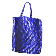 Blue Ripple Giant Grocery Zipper Tote by vwdigitalpainting