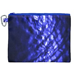 Blue Ripple Canvas Cosmetic Bag (xxl) by vwdigitalpainting