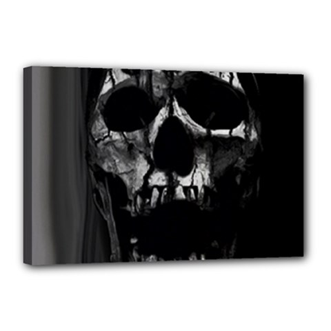 Black And Grey Nightmare Canvas 18  X 12  by vwdigitalpainting