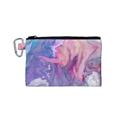 Marbled,ultraviolet,violet,purple,pink,blue,white,stone,marble,modern,trendy,beautiful Canvas Cosmetic Bag (small)