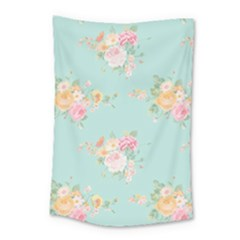 Mint,shabby Chic,floral,pink,vintage,girly,cute Small Tapestry by 8fugoso