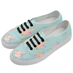 Mint,shabby Chic,floral,pink,vintage,girly,cute Women s Classic Low Top Sneakers by 8fugoso