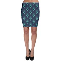 Blue,teal,peacock Pattern,art Deco Bodycon Skirt by 8fugoso