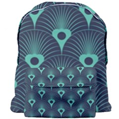 Blue,teal,peacock Pattern,art Deco Giant Full Print Backpack by 8fugoso