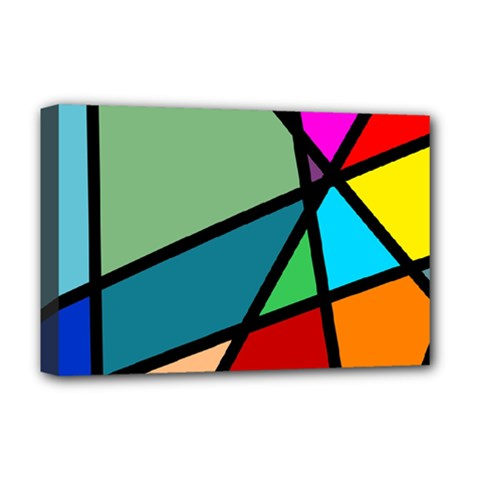 Modern Abstract Deluxe Canvas 18  X 12   by vwdigitalpainting