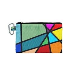 Modern Abstract Canvas Cosmetic Bag (small) by vwdigitalpainting