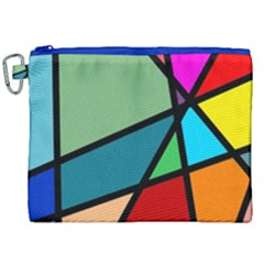 Modern Abstract Canvas Cosmetic Bag (xxl) by vwdigitalpainting
