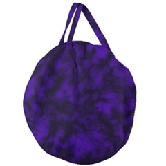 Midnight Giant Round Zipper Tote