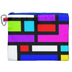 Dutch Modern Abstract Canvas Cosmetic Bag (xxl)