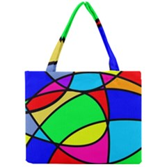 Abstract Curves Mini Tote Bag