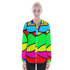 Abstract Curves Womens Long Sleeve Shirt by vwdigitalpainting