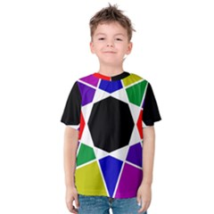 Compass Abstract Kids  Cotton Tee by vwdigitalpainting