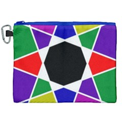 Compass Abstract Canvas Cosmetic Bag (xxl) by vwdigitalpainting