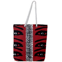 Eyes Have It Print Full Print Rope Handle Tote (large) by julissadesigns