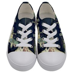 Abandonded Dollhouse Kids  Low Top Canvas Sneakers