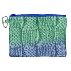 Knitted Wool Square Blue Green Canvas Cosmetic Bag (xl) by snowwhitegirl