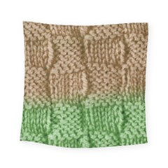 Knitted Wool Square Beige Green Square Tapestry (small) by snowwhitegirl