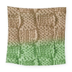Knitted Wool Square Beige Green Square Tapestry (large) by snowwhitegirl