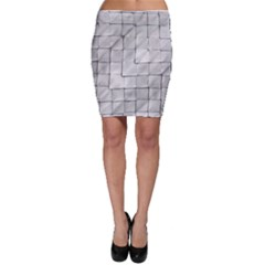 Silver Grid Pattern Bodycon Skirt by dflcprints