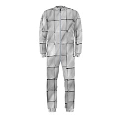 Silver Grid Pattern Onepiece Jumpsuit (kids) by dflcprints