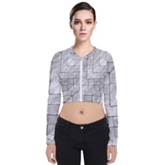 Silver Grid Pattern Bomber Jacket by dflcprints