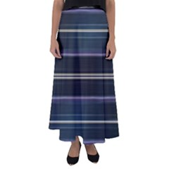 Modern Abtract Linear Design Flared Maxi Skirt by dflcprints