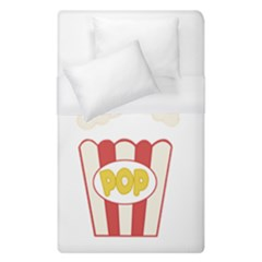 Cute Kawaii Popcorn Duvet Cover (single Size) by Valentinaart