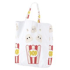 Cute Kawaii Popcorn Giant Grocery Zipper Tote by Valentinaart