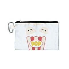 Cute Kawaii Popcorn Canvas Cosmetic Bag (small) by Valentinaart