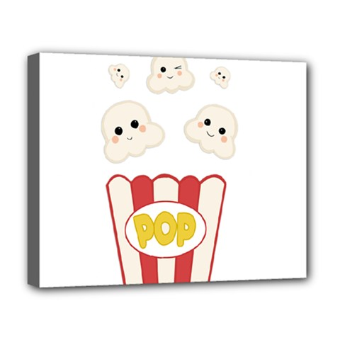 Cute Kawaii Popcorn Deluxe Canvas 20  X 16