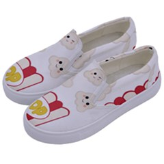 Cute Kawaii Popcorn Kids  Canvas Slip Ons by Valentinaart