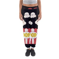 Cute Kawaii Popcorn Women s Jogger Sweatpants by Valentinaart