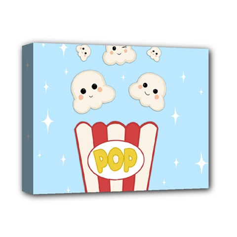Cute Kawaii Popcorn Deluxe Canvas 14  X 11  by Valentinaart