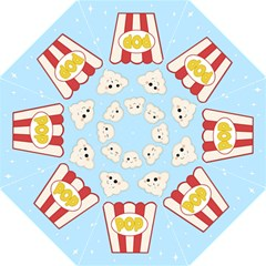 Cute Kawaii Popcorn Hook Handle Umbrellas (medium) by Valentinaart