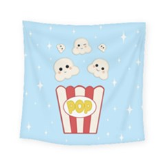 Cute Kawaii Popcorn Square Tapestry (small) by Valentinaart