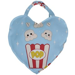 Cute Kawaii Popcorn Giant Heart Shaped Tote