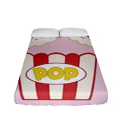 Cute Kawaii Popcorn Fitted Sheet (full/ Double Size)