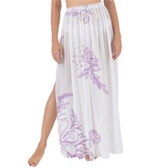Beautiful,violet,floral,shabby Chic,pattern Maxi Chiffon Tie Up Sarong by 8fugoso