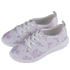 Beautiful,violet,floral,shabby Chic,pattern Women s Lightweight Sports Shoes by 8fugoso