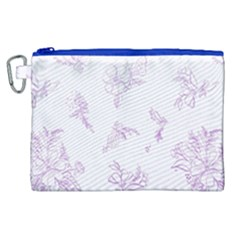 Beautiful,violet,floral,shabby Chic,pattern Canvas Cosmetic Bag (xl) by 8fugoso