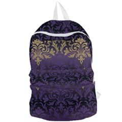 Art Nouveau,vintage,damask,gold,purple,antique,beautiful Foldable Lightweight Backpack by 8fugoso